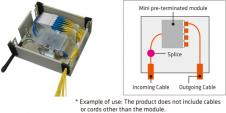 Mini pre-terminated module type for single-fiber cable [W-OP-U4CM]